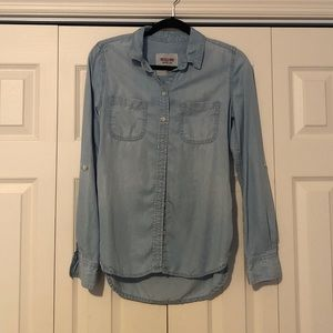 Light blue chambray button down
